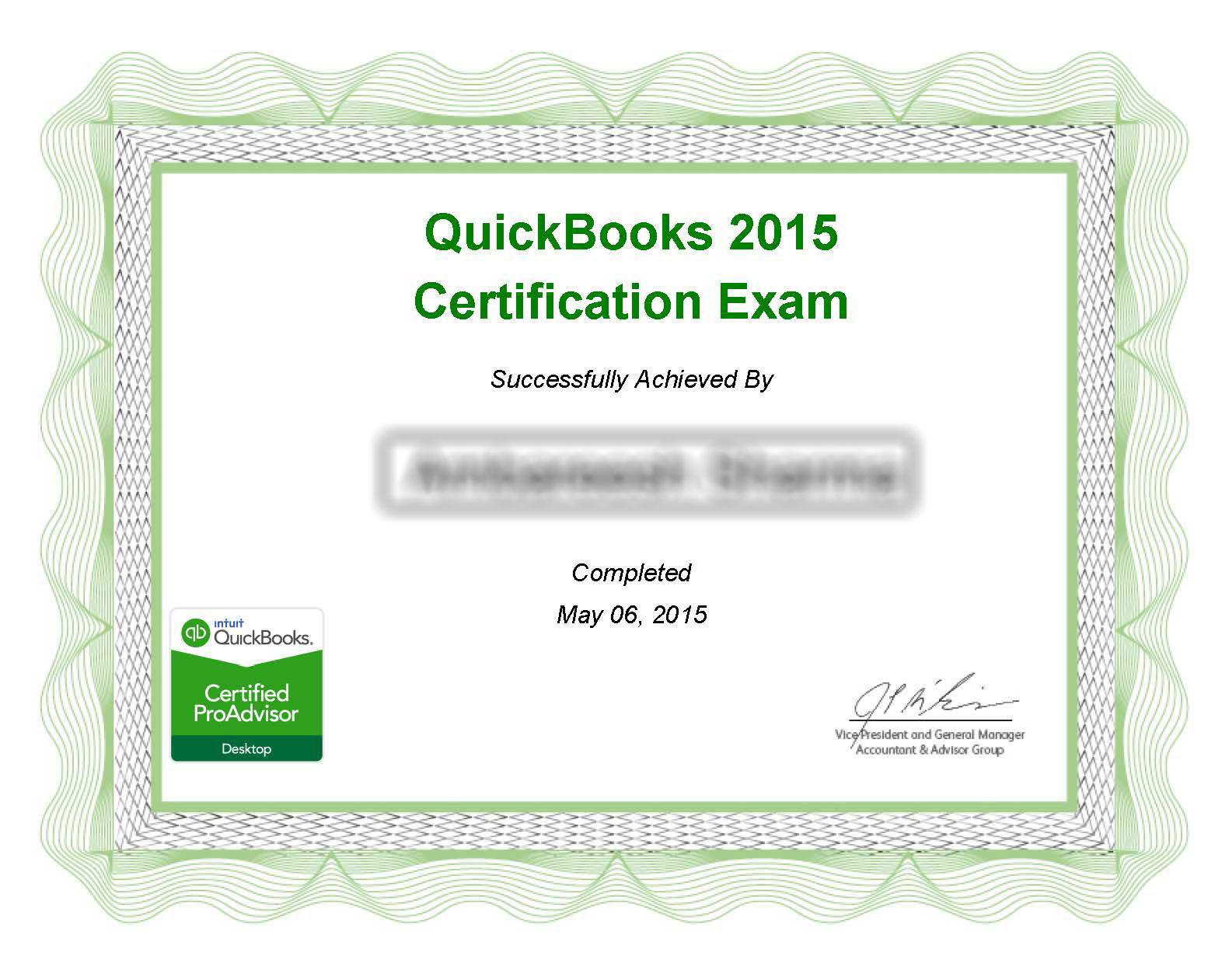 QuickBooks® 2014 Certification